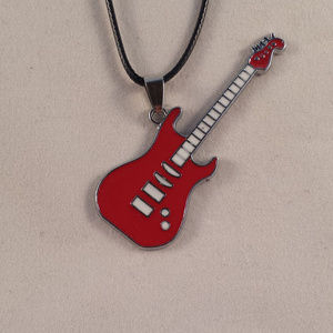 Other - Stainless Steel Red Electric Guitar Pendant